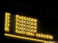 Tablica DIP na przystanku Jachowicza (Bielska)
