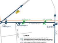 Planowane nowe przystanki wzdłuż ul. Boryszewskiej