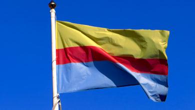 Flaga z barwami miasta Płocka