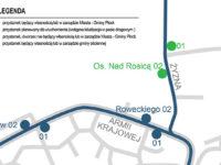 Planowane nowe przystanki przy ul. Żyznej