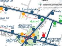 Planowana nowa organizacja węzła komunikacyjnego Jachowicza