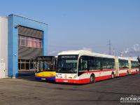 Van Hool AGG300 podczas pierwszego dnia pobytu w Płocku