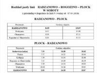 Nowy rozkład jazdy linii Rogozino - Radzanowo