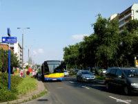 Uruchomiony na krótko przystanek zastępczy przed skrzyżowaniem z ul. Sportową
