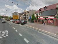 Wyłączony przystanek zastępczy w Al. Jachowicza (źródło: Mapy Google, czerwiec 2013)