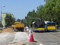 Prace na skrzyżowaniu ulic Łukasiewicza x Tysiąclecia x Miodowa
