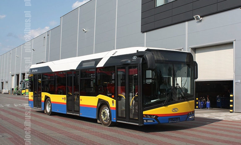 Gotowy Solaris Urbino IV 12 Hybrid na terenie fabryki (źródło: facebook prezydenta Płocka)