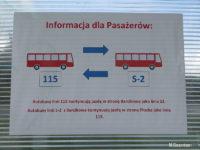 Informacja pasażerska o skomunikowaniu linii 115 i S-2