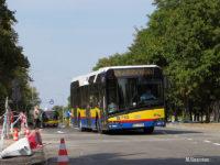 Autobus na ul. Łukasiewicza po zamknięciu ul. Miodowej