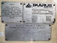 Tabliczka znamionowa Ikarusa #623