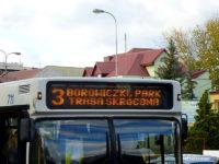 Trasa linii nr 3 skrócona do przystanku Borowiczki, park