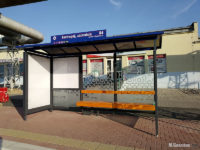 Nowa wiata na przystanku Kostrogaj, zajezdnia 04