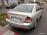 Toyota Corolla po kolizji z Solarisem