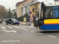 Kolizja z udziałem Solarisa #731. Foto: Gazeta Wyborcza Płock