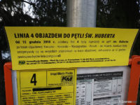 Informacja o objeździe na linii nr 4