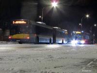 Zatrzymane autobusy linii nr 3 w Imielnicy