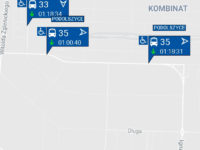 Opóźnienia na liniach 33 i 35 (źródło: aplikacja myBus)