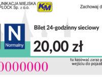20,00 zł - dobowy sieciowy normalny