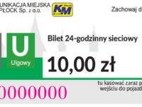 10,00 zł - dobowy sieciowy ulgowy