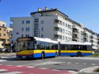Linia 24 na rondzie łączącym ul. 3 Maja i 11 Listopada