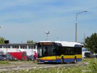Linia 10 na tymczasowym przystanku Gawareckiego przy ul. Przemysłowej.