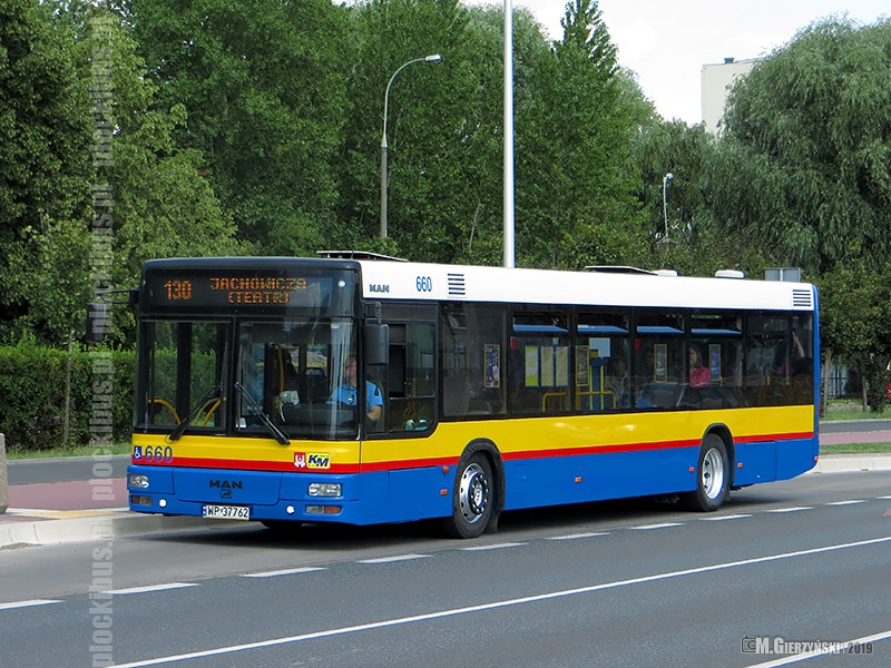 Odmalowany MAN NL283 #660