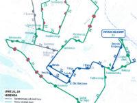 Planowana trasa nowej linii nr 25