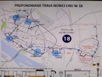 Proponowana trasa nowej linii nr 18