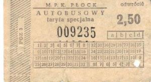 2,50 zł - taryfa specjalna (ze zbiorów Marcina Kozłowskiego)