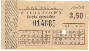 3,50 zł - taryfa specjalna (ze zbiorów Marcina Kozłowskiego)