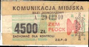 4500 zł (ze zbiorów Marcina Kozłowskiego)