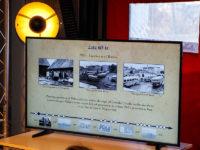 Jeden ze slajdów opisujących początki płockiej komunikacji. Foto: KM-Płock