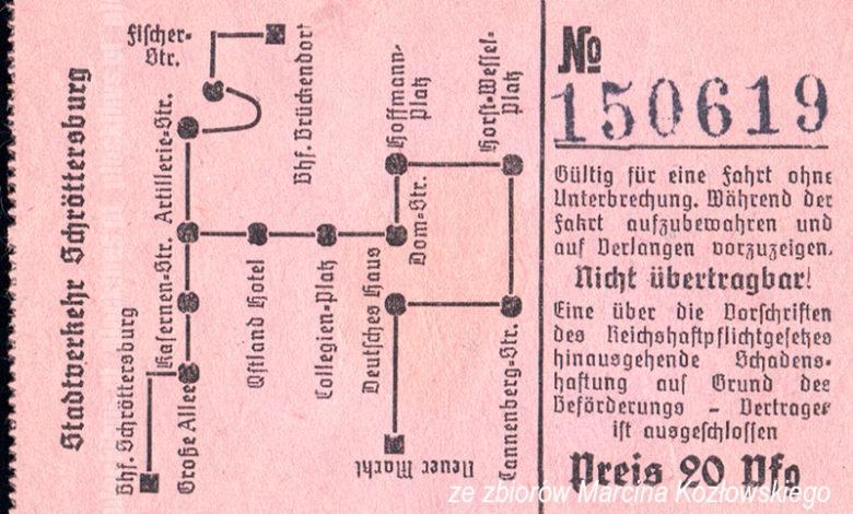 Bilet z czasów okupacji (ze zbiorów Marcina Kozłowskiego)