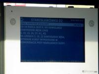 Komunikat na tablicy DIP