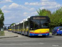 Kolejka zbisowanych autobusów na ul. Chemików