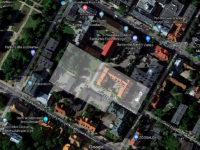 Prawdopodobny obszar dawnej zajezdni przy ul. Bieruta