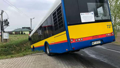 Photo of Solaris #727 wjechał do rowu