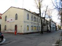 Dawny (opuszczony dziś) budynek zajezdni