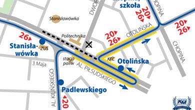 Photo of Objazd ul. Dworcowej, otwarcie ul. Kolejowej