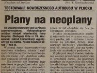 Artykuł o testach autobusu Neoplan N4020
