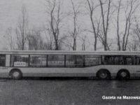Warszawski autobus Neoplan N4020 na testach w Płocku