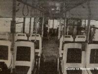 Wnętrze warszawskiego autobusu Neoplan N4020 na linii 19