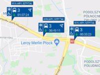 Trzy autobusy linii nr 3 jadące w tym samym kierunku (źródło: aplikacja myBus)
