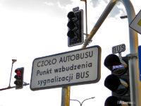 """Znak """"CZOŁO AUTOBUSU"""""""
