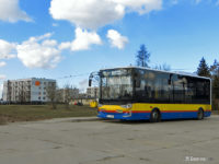Autobus linii 18 na nowej pętli Żyzna