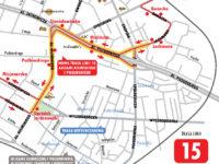 Zmieniona trasa linii 15 (źródło: kmplock.eu)