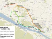 Mapa nowych linii do gminy Brodzeń Duży